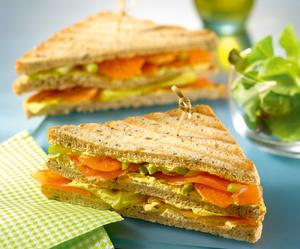 Fromage Frais and Norwegian Salmon Multi-Grain Club Sandwich